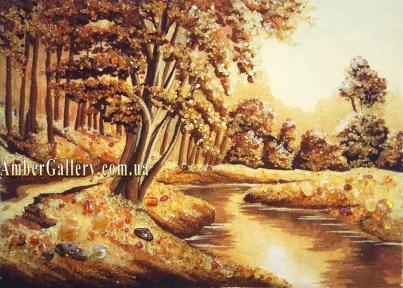Дубы у реки №283