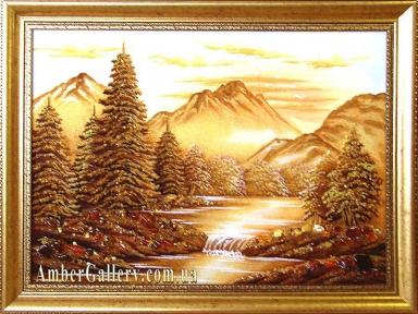 Янтарная картина «Река» №111