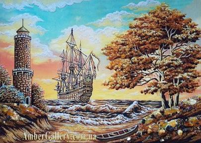 Корабль у маяка (50)