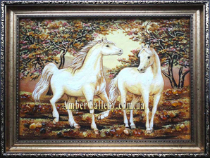 A pair of white horses (66)